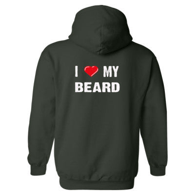 I Love My Beard Heavy Blend™ Hooded Sweatshirt BACK ONLY S-Forest- Cool Jerseys - 1