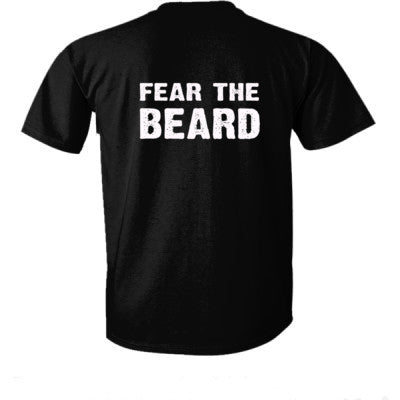 Fear The Beard Tshirt - Ultra-Cotton T-Shirt Back Print Only S-Real black- Cool Jerseys - 1