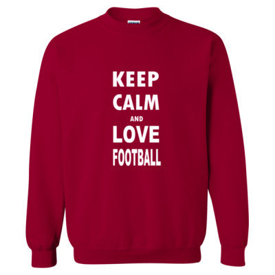 Keep Calm And Love Football S-Cardinal Red- Cool Jerseys - 1