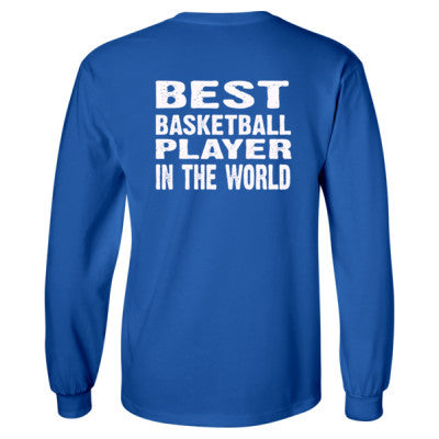 Best Basketball Player In The World - Long Sleeve T-Shirt - BACK PRINT ONLY S-Royal- Cool Jerseys - 1