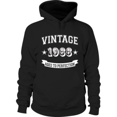 Vintage 1966 Aged To Perfection - Hoodie S-Black- Cool Jerseys - 1