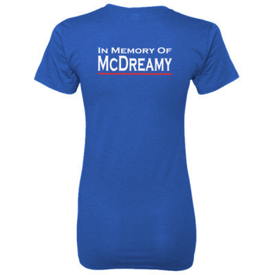 In Memory of McDreamy tshirt - Ladies' 100% Ringspun Cotton nano-T® Back Print Only S-Deep Royal- Cool Jerseys - 1