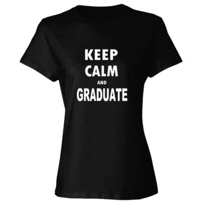 Keep Calm And Graduate - Ladies' Cotton T-Shirt S-Black- Cool Jerseys - 1