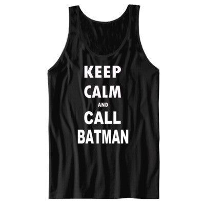 Keep Calm and Call Batman - Unisex Jersey Tank - Cool Jerseys - 1