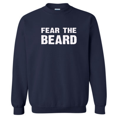Fear The Beard Tshirt - Heavy Blend™ Crewneck Sweatshirt S-Navy- Cool Jerseys - 1