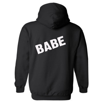 Babe Heavy Blend™ Hooded Sweatshirt BACK ONLY S-Black- Cool Jerseys - 1