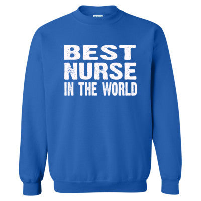 Best Nurse In The World - Heavy Blend™ Crewneck Sweatshirt S-Royal- Cool Jerseys - 1
