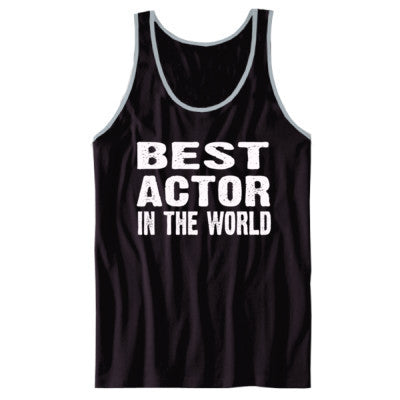 Best Actor In The World - Unisex Jersey Tank XS-Black- Cool Jerseys - 1