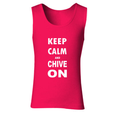 Keep Calm And Chive On S-Cherry Red- Cool Jerseys - 1