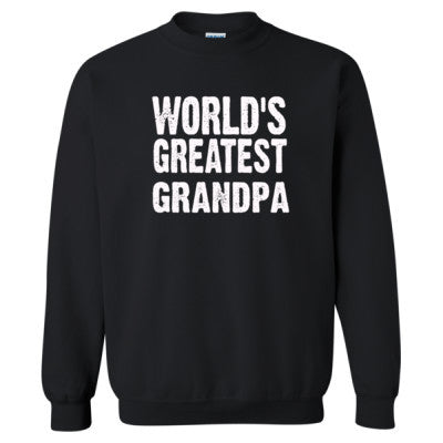 Worlds Greatest Grandpa - Heavy Blend™ Crewneck Sweatshirt S-Black- Cool Jerseys - 1