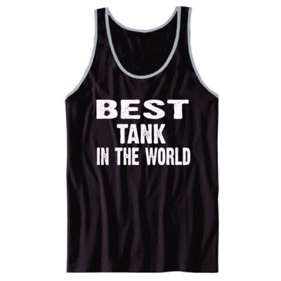 Best Tank In The World - Unisex Jersey Tank XS-Black- Cool Jerseys - 1