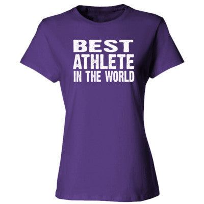 Best Athlete In The World - Ladies' Cotton T-Shirt S-Purple- Cool Jerseys - 1