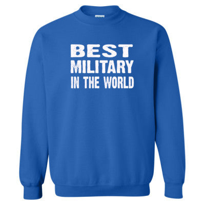 Best Military In The World - Heavy Blend™ Crewneck Sweatshirt S-Royal- Cool Jerseys - 1