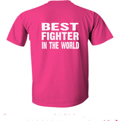 Best Fighter In The World - Ultra-Cotton T-Shirt Back Print Only S-Heliconia- Cool Jerseys - 1