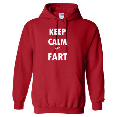 Keep Calm And Fart - Heavy Blend™ Hooded Sweatshirt S-Red- Cool Jerseys - 1