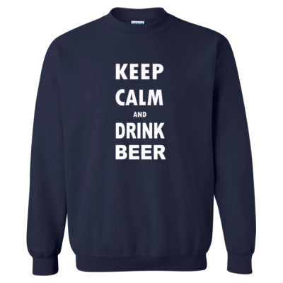 Keep Calm And Drink Beer - Heavy Blend™ Crewneck Sweatshirt S-Navy- Cool Jerseys - 1