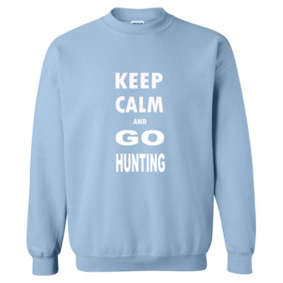 Keep Calm And Go Hunting - Heavy Blend™ Crewneck Sweatshirt S-Light Blue- Cool Jerseys - 1