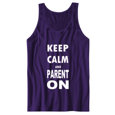 Keep Calm And Parent On - Unisex Jersey Tank S-Team Purple- Cool Jerseys - 1