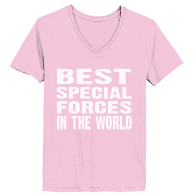 Best Special Forces In The World - Ladies' V-Neck T-Shirt - Cool Jerseys - 1
