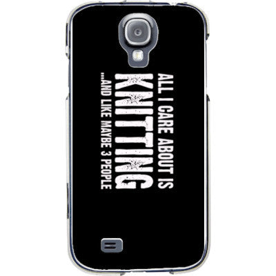 All i Care About is Knitting And Like Maybe Three People - Samsung S4 Phone Cover - FREE SHIPPING WITHIN USA OS-Clear- Cool Jerseys