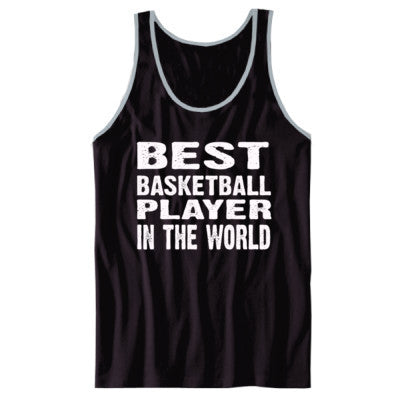 Best Basketball Player In The World - Unisex Jersey Tank XS-Black- Cool Jerseys - 1