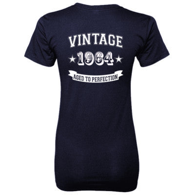 Vintage 1964 Aged To Perfection - Ladies' 100% Ringspun Cotton nano-T® Back Print Only - Cool Jerseys - 1