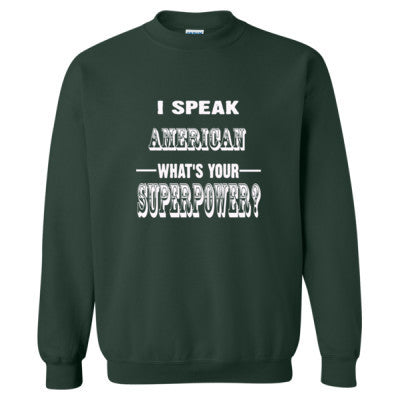 I Speak American - Heavy Blend™ Crewneck Sweatshirt S-Forest- Cool Jerseys - 1