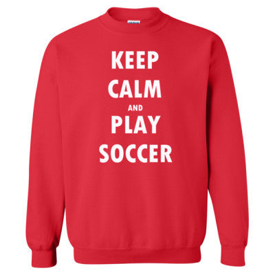 Keep Calm And Play Soccer - Heavy Blend™ Crewneck Sweatshirt S-Red- Cool Jerseys - 1