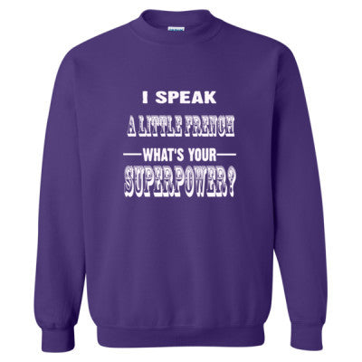 I Speak A Little French - Heavy Blend™ Crewneck Sweatshirt S-Purple- Cool Jerseys - 1