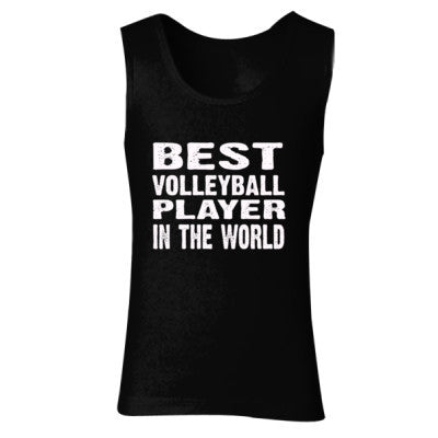 Best Volleyball Player In The World - Ladies' Soft Style Tank Top S-Black- Cool Jerseys - 1