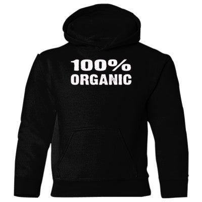 100% Organic Heavy Blend Children's Hooded Sweatshirt S-Black- Cool Jerseys - 1
