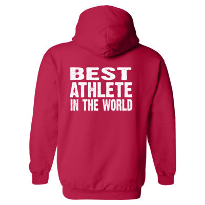 Best Athlete In The World - Heavy Blend™ Hooded Sweatshirt BACK ONLY S-Cherry Red- Cool Jerseys - 1
