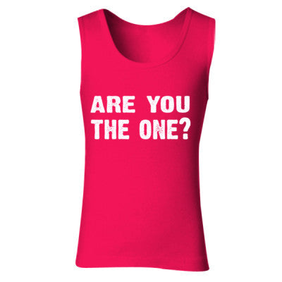 Are you the one tshirt - Ladies' Soft Style Tank Top S-Cherry Red- Cool Jerseys - 1