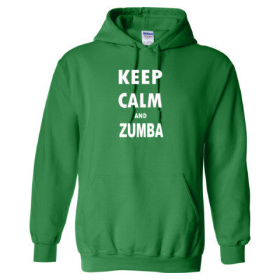 Keep Calm And Zumba - Heavy Blend™ Hooded Sweatshirt S-Irish Green- Cool Jerseys - 1
