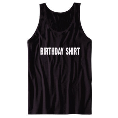 Birthday shirt - Unisex Tank S-Black- Cool Jerseys - 1
