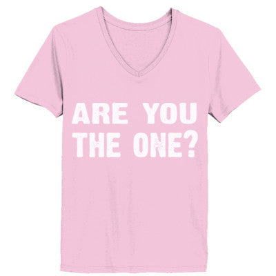 Are you the one tshirt - Ladies' V-Neck T-Shirt XS-Pale Pink- Cool Jerseys - 1
