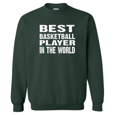 Best Basketball Player In The World - Heavy Blend™ Crewneck Sweatshirt S-Forest- Cool Jerseys - 1