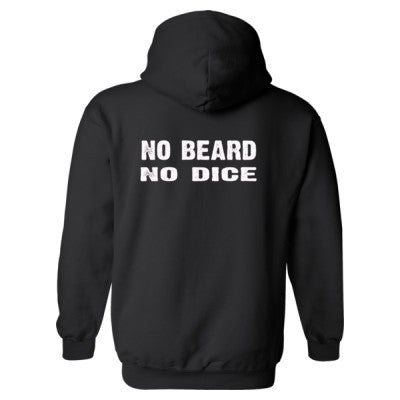 No Beard No Dice Heavy Blend™ Hooded Sweatshirt BACK ONLY S-Black- Cool Jerseys - 1