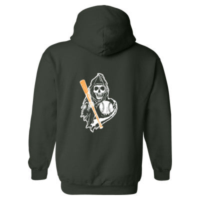 I Love Baseball - Heavy Blend™ Hooded Sweatshirt BACK ONLY S-Forest- Cool Jerseys - 1
