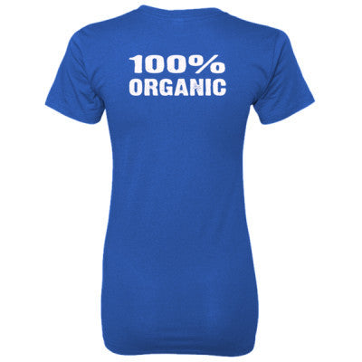 100% Organic tshirt - Ladies' 100% Ringspun Cotton nano-T® Back Print Only S-Deep Royal- Cool Jerseys - 1