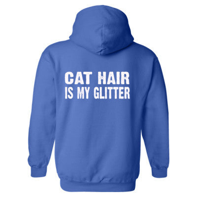 Cat Hair is my glitter tshirt - Heavy Blend™ Hooded Sweatshirt BACK ONLY S-Royal- Cool Jerseys - 1