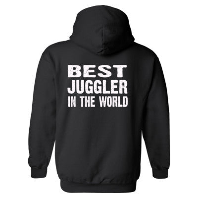 Best Juggler In The World - Heavy Blend™ Hooded Sweatshirt BACK ONLY S-Black- Cool Jerseys - 1