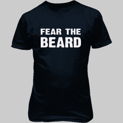 Fear The Beard Tshirt - Unisex T-Shirt FRONT Print S-Blue Dusk- Cool Jerseys - 1