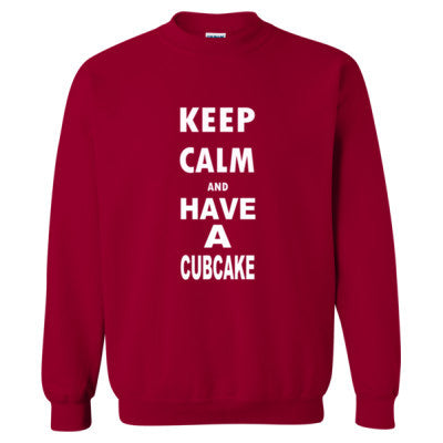Keep Calm And Have A Cubcake - Heavy Blend™ Crewneck Sweatshirt S-Cardinal Red- Cool Jerseys - 1