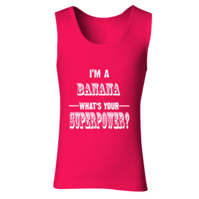 Im A Banana - Ladies' Soft Style Tank Top S-Cherry Red- Cool Jerseys - 1