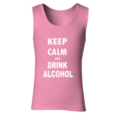 Keep Calm And Drink Alcohol - Ladies' Soft Style Tank Top - Cool Jerseys - 1