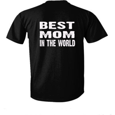 Best Mom In The World - Ultra-Cotton T-Shirt Back Print Only S-Real black- Cool Jerseys - 1