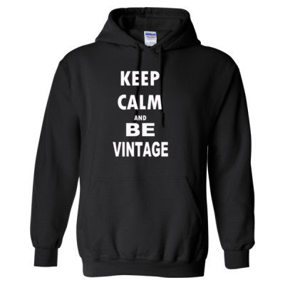 Keep Calm And Be Vintage - Heavy Blend™ Hooded Sweatshirt S-Black- Cool Jerseys - 1