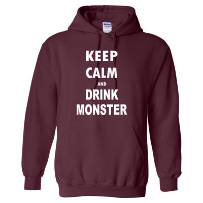 Keep Calm And Drink Monster - Heavy Blend™ Hooded Sweatshirt - Cool Jerseys - 1