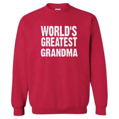 Worlds Greatest Grandma - Heavy Blend™ Crewneck Sweatshirt S-Cherry Red- Cool Jerseys - 1